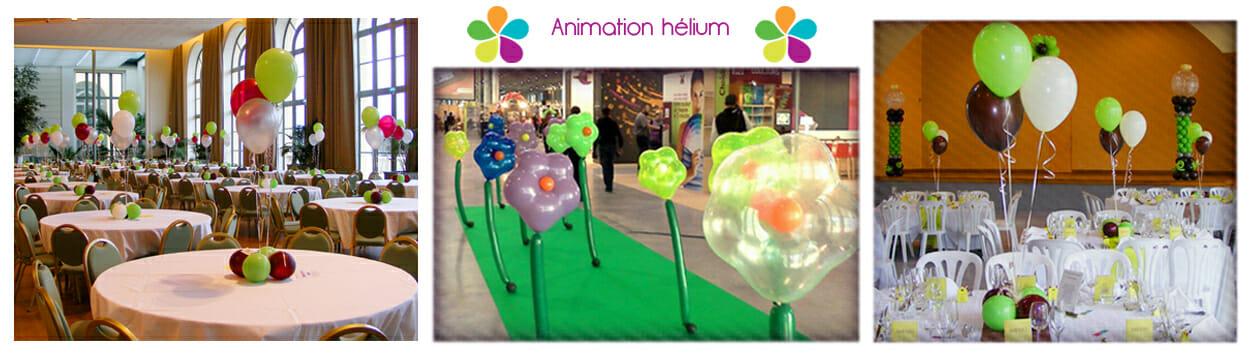 Animation hélium - Centre de table mariage